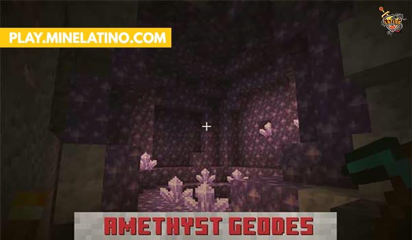 Nuevo mineral Geodas Minecraft 1.17