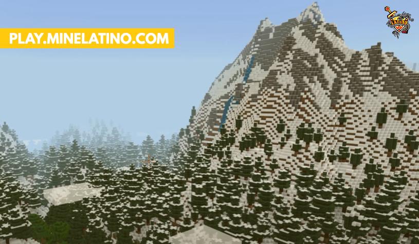 Nuevo bioma nevado y nueva generación de montañas minecraft 1.17